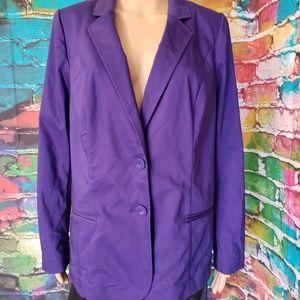 NWT purple Lane Bryant blazer